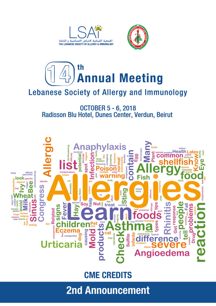 THE 14TH ANNUAL MEETING OF THE LEBANESE SOCIETY OF ALLERGY AND IMMUNOLOGY